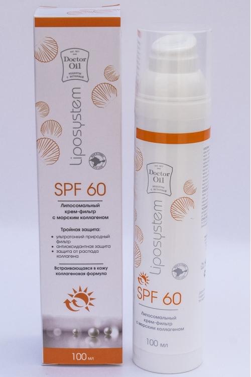 DrOil Крем-фильтр солнцезащитный Liposystem SPF60 100мл