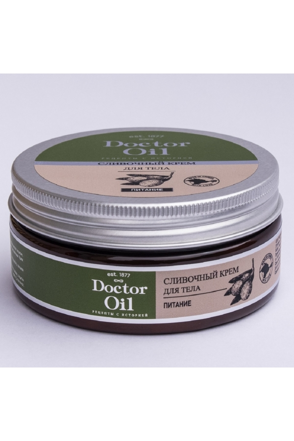 """DrOil Крем для тела сливочный """"Питание"""" с маслом сладкого миндаля и маслом оливы 150мл"""
