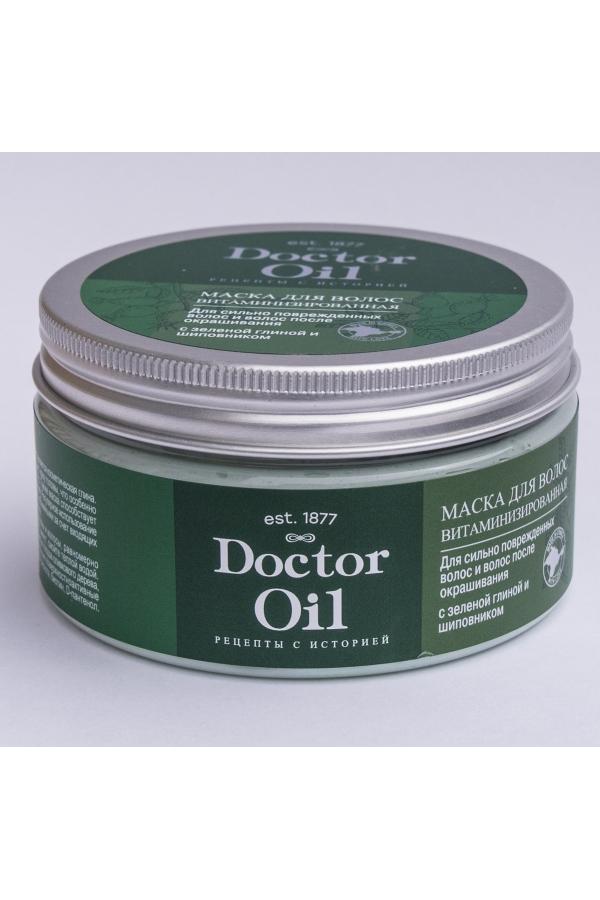 DrOil Маска  для сильно поврежденных волос и после окрашивания с зеленой глиной и шиповником 200 гр