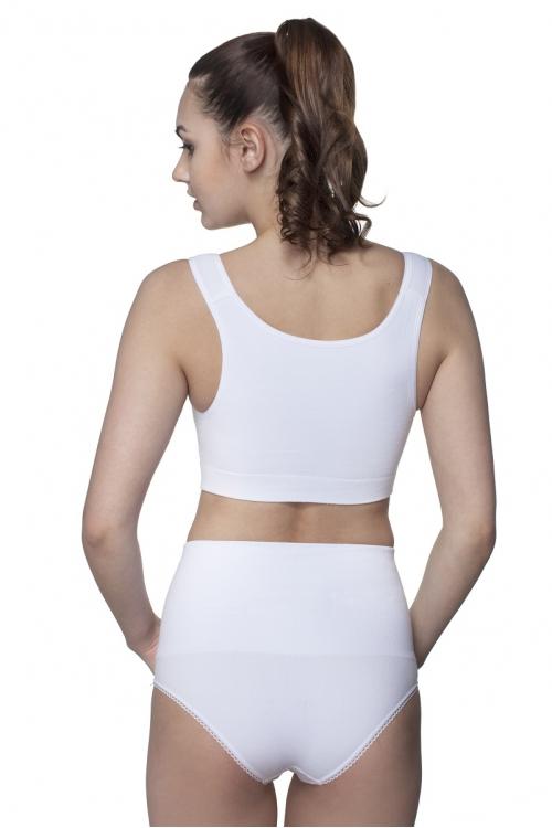 Б-062 Пояс-трусы послеродовые бесшовные для женщин белый