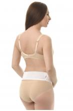 0845 Бандаж дородовой для беременных на нестандартное положение живота белый