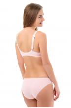 26005ЦН Трусы для беременных (универсальные) с резинкой под животом светло-розовый/белый/горох