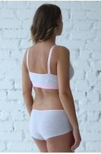 1-НМП 04102 Майка-топ для беременных и кормящих серый/розовый