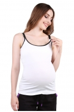320.7405 Майка для беременных и кормящих белый/черный