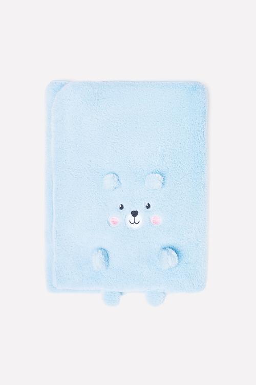 ФЛ 85001/1 ГР Двухсторонний плед-трансформер голубой