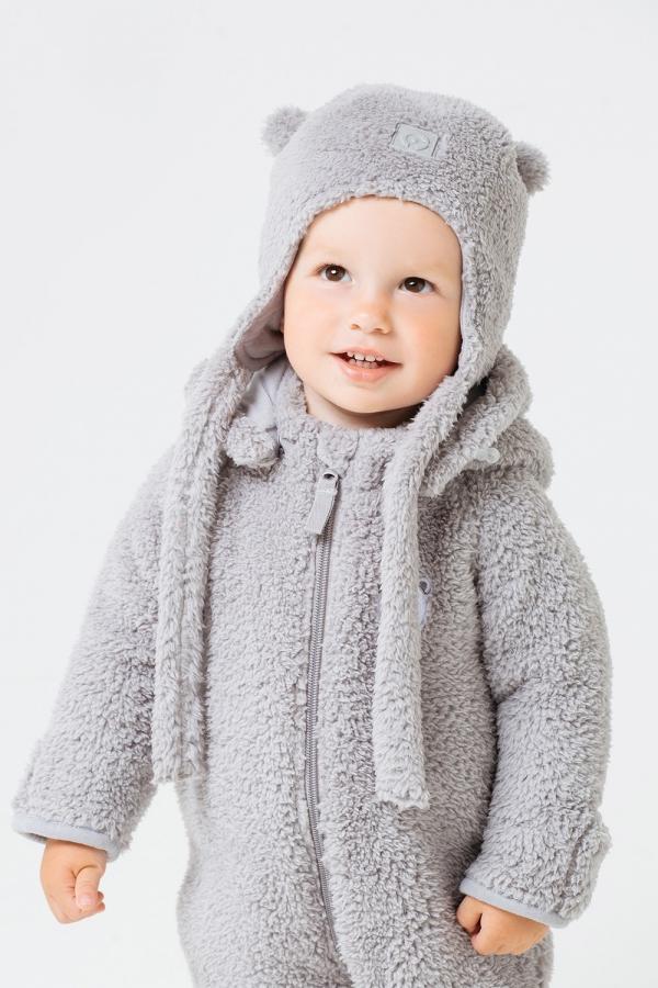 ФЛ 80009/1  ГР Шапка детская  для мальчика и девочки серая