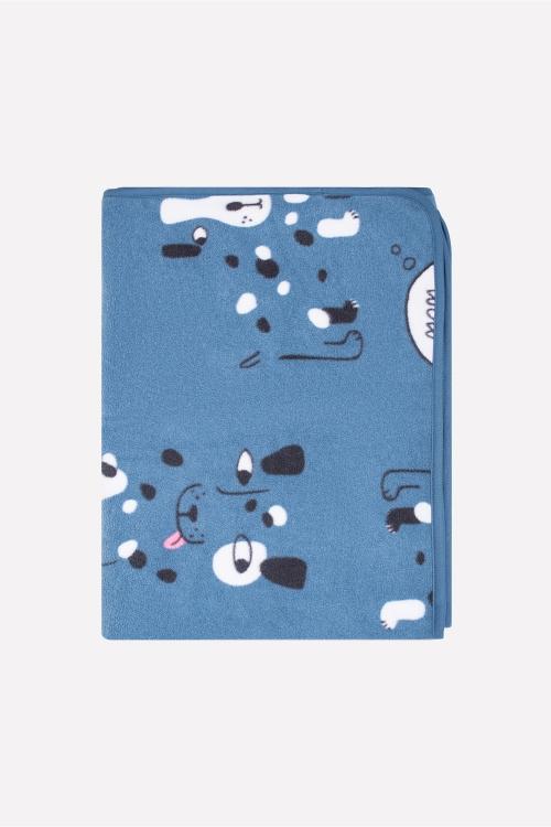 ФЛ 85000/н/23 РР Плед детский собачки на синем