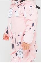 ФЛ 60000/н/30 РР Флисовый комбинезон для девочки собачки на розовом
