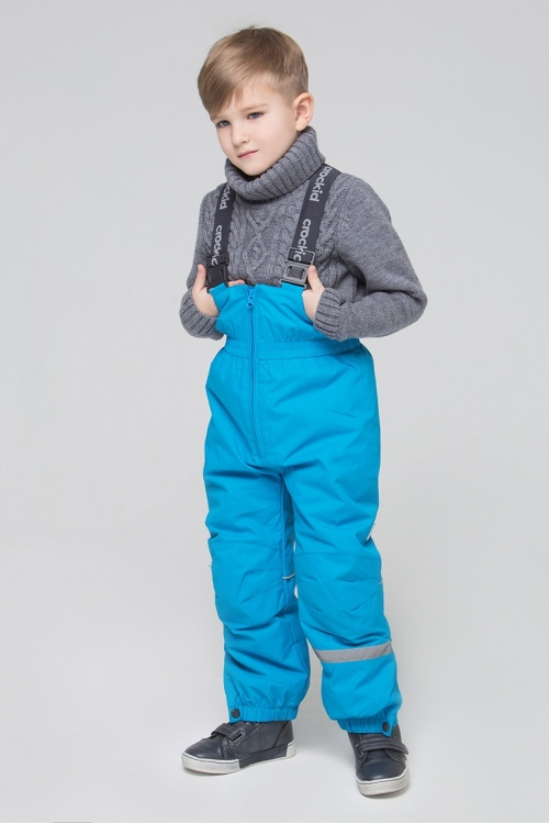 ВК 40002/7 БЮ Полукомбинезон для мальчика голубой