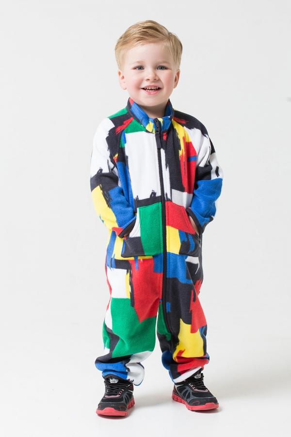 ФЛ 60001/н/34 РР Комбинезон для мальчика цветной принт