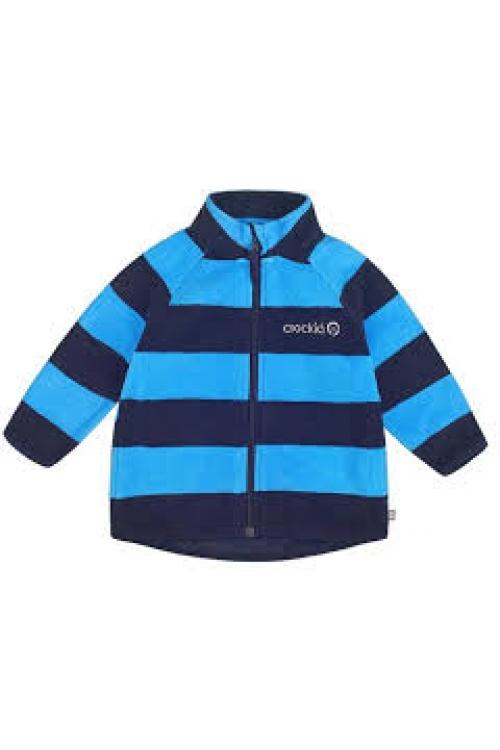 ФЛ 34011/н/24 РР Флисовая куртка  для мальчика принт голубая полоска