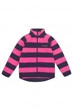 ФЛ 34011/н/25 РР Флисовая куртка  для девочки принт розовая полоска