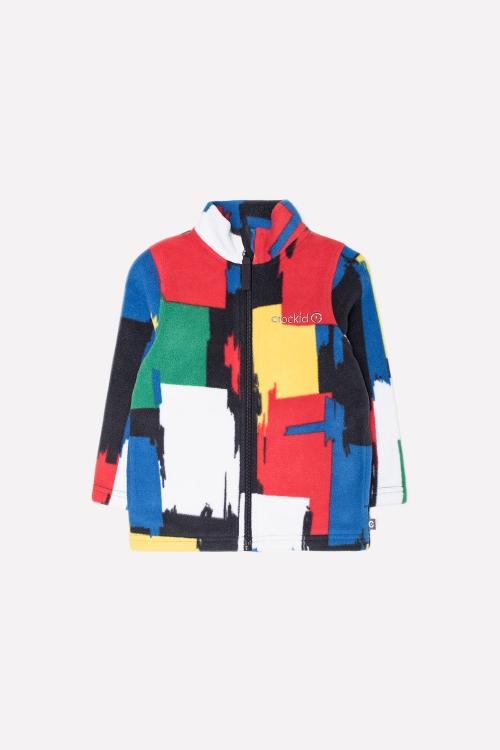 ФЛ 34025/н/14 РР Флисовая куртка  для мальчика цветной принт
