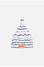 К 8036 шапка детская морская волна на белом