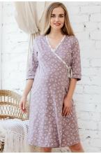 П01504К Комплект для беременных и кормящих женщин коричневый/молочный