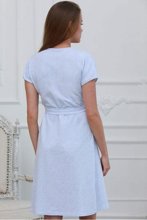 1-НМК 08402 Халат для беременных и кормящих мам голубой меланж