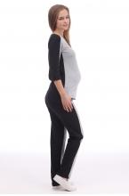 1-124505К Костюм женский для беременных серый-черный