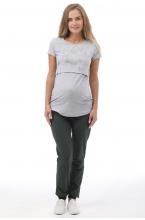 1-142530 Брюки спортивные для беременных хакки