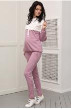1-41505К Костюм для беременных и кормящих женщин молочный/лиловый
