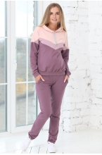 1-79505К Костюм для беременных и кормящих мам пурпурный/розовый