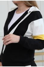 1-94505К Костюм для беременных и кормящих черный/молочный/желтый