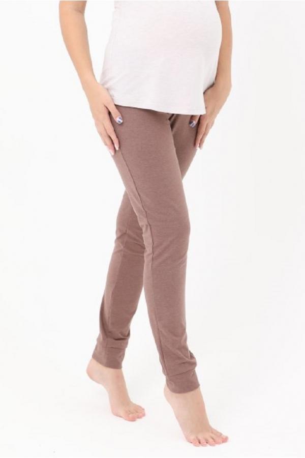 1-НМО 10302 Брюки женские для беременных коричневый