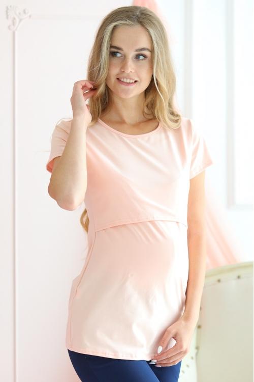 1-125505А  Джемпер женский для беременных и кормящих  абрикосовый