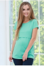 1-125505А Джемпер женский для беременных и кормящих светло-зеленый