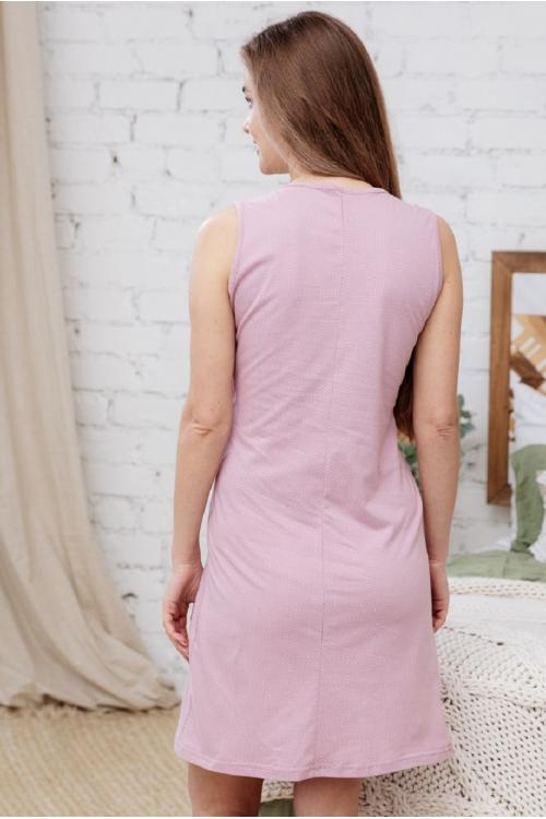 П16504 Сорочка женская для беременных и кормящих пудровый/белый