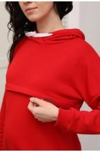 2-252505К Костюм для беременных и кормящих женщин красный