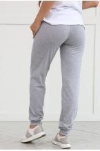 7КП402-303004 Брюки для беременных женщин серый меланж