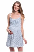 441613.7461 Комплект для роддома (халат+ночная сорочка) этника серо-голубой