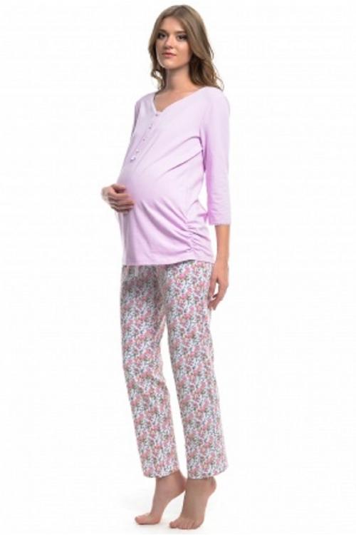 517.425Д Пижама для кормления (сорочка+брюки) светло-розовый
