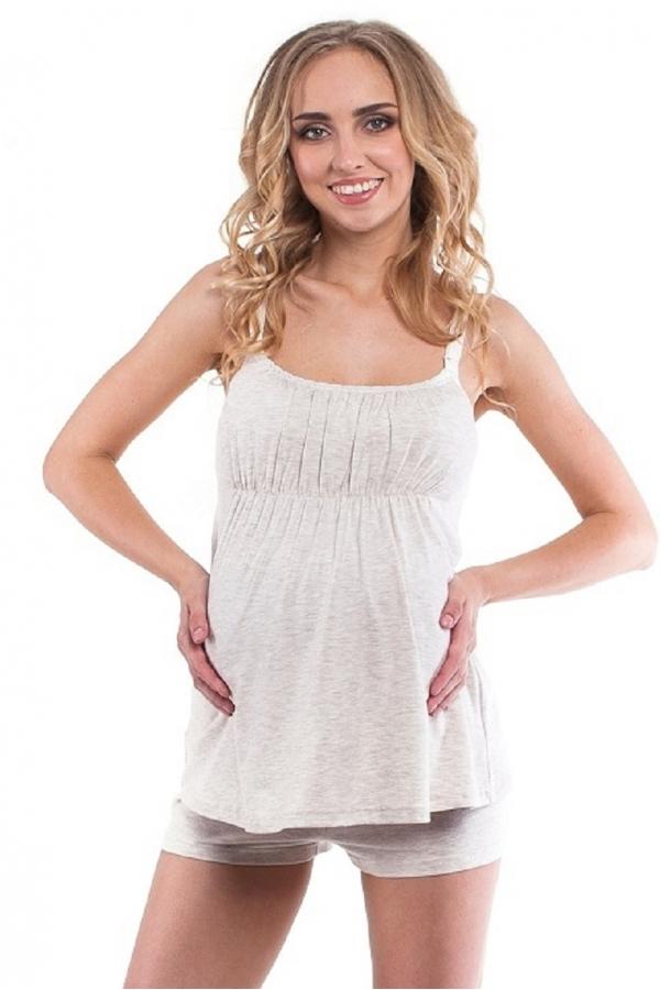 518.7449 Домашний комплект для беременной (майка+шорты)