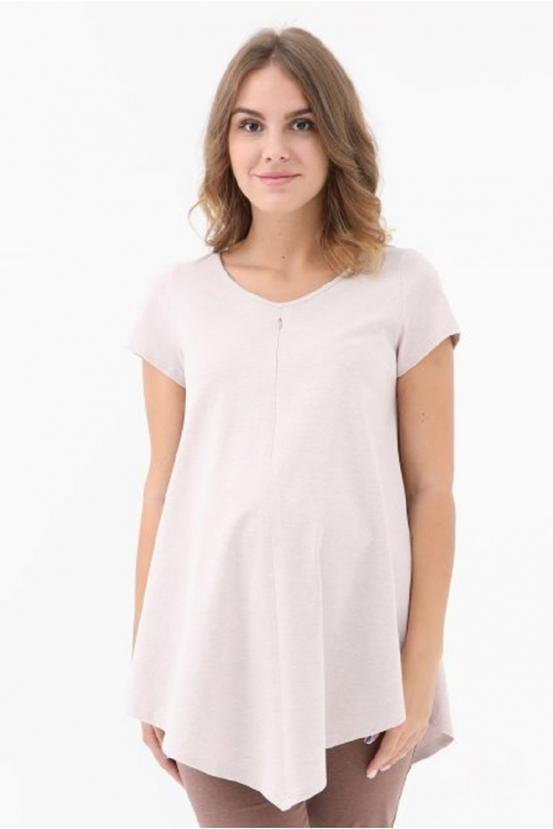 1-НМ 53102 Блузка женская для беременных и кормящих бежевый