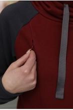 2-73505К Костюм для беременных и кормящин женщин бордовый/графит
