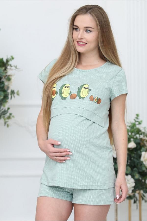 П86504К Пижама для беременных и кормящих женщин фисташковый