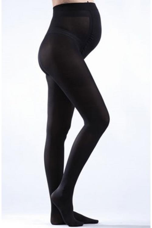 Тёплые шерстяные колготки для беременных NEWFORM 450 den черный