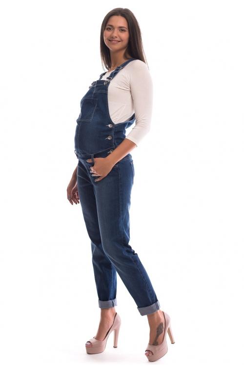 1036.0044 Полукомбинезон джинсовый зауженного силуэта синий