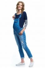 """1047.1602 Полукомбинезон джинсовый силуэта """"boyfriend"""" голубой"""