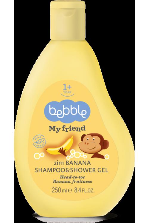 Шампунь и гель для душа Beblle 2в1 с ароматом банана 250 мл.