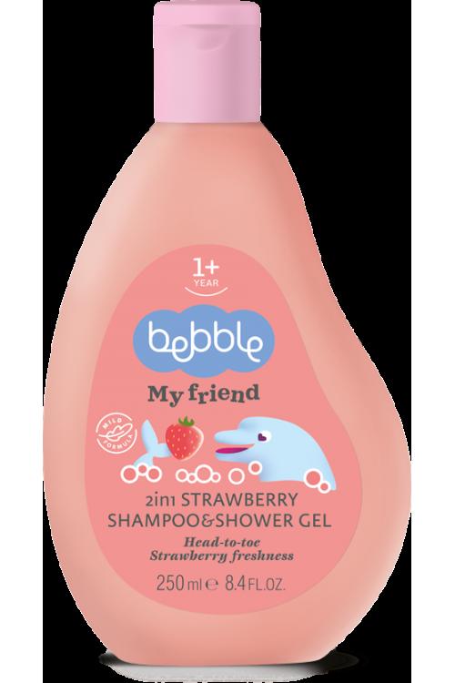 Шампунь и гель для душа Beblle 2в1 с ароматом клубники 250 мл.