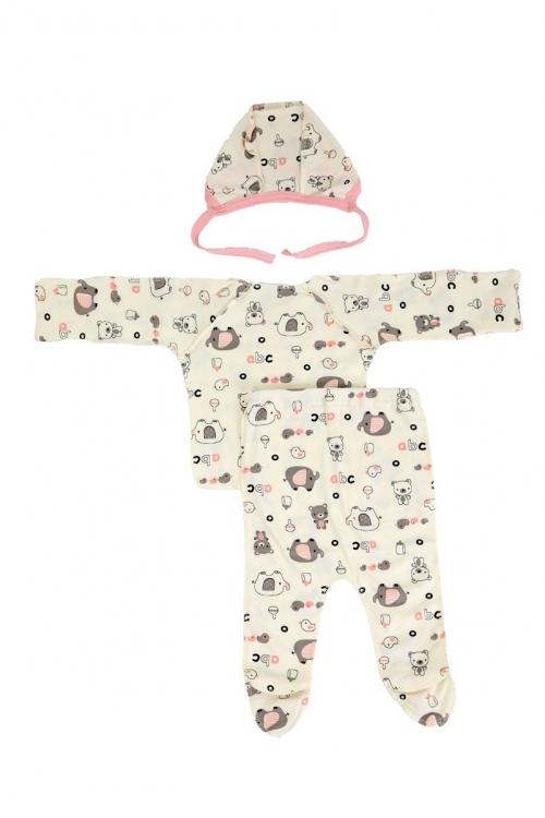 КДС 1/1 Комплект детский стерильный из 3-ёх предметов молочный/розовый