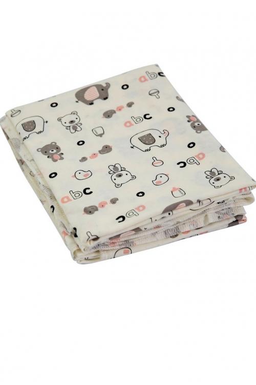КДС 4/1 Комплект детский стерильный (2 пелёнки) молочный/розовый