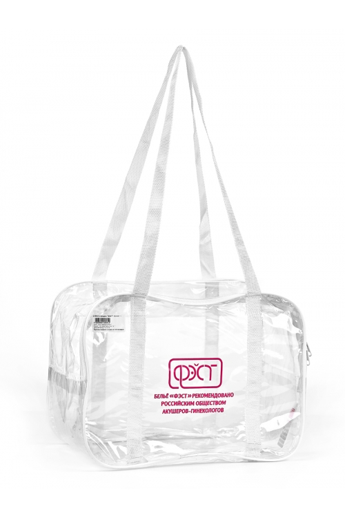Сумка ПВХ для упаковки вещей в роддом прозрачная (большая 54х24х33)