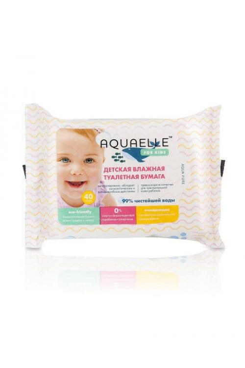 Детская туалетная бумага Aquaelle for Kids влажная 40 шт.