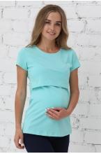 1-125505А Джемпер женский для беременных и кормящих мятный