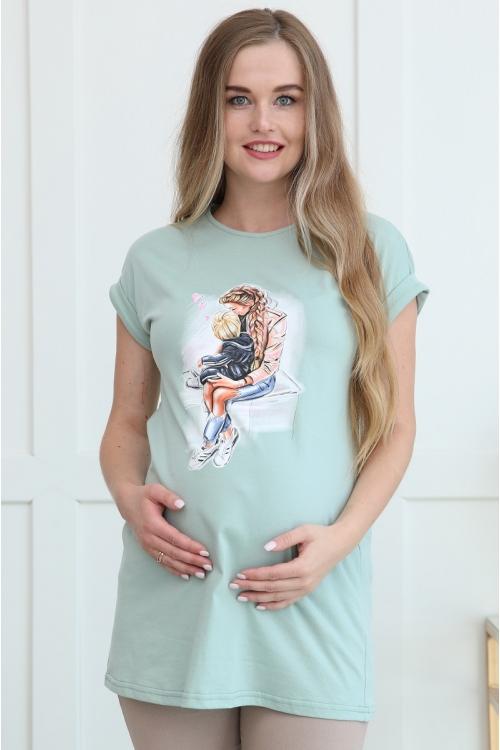 1-146504А Джемпер для беременных женщин фисташковый