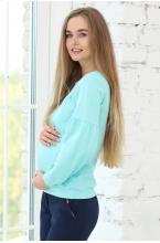 1-162505Е Джемпер женский для беременных и кормящих светло-зеленый