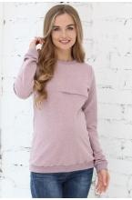 1-25505Е Джемпер женский для беременных и кормящих розовый